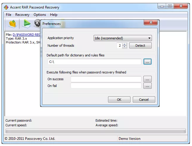 Accent RAR Password Recovery